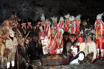Tresterergruppe auf der Burg Kaprun